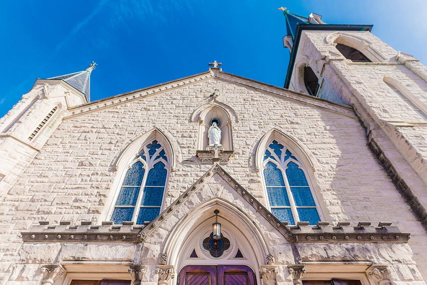 St Mary Catholic Church in Old Town Alexandria by Washington DC Wedding Photographer Adam Mason