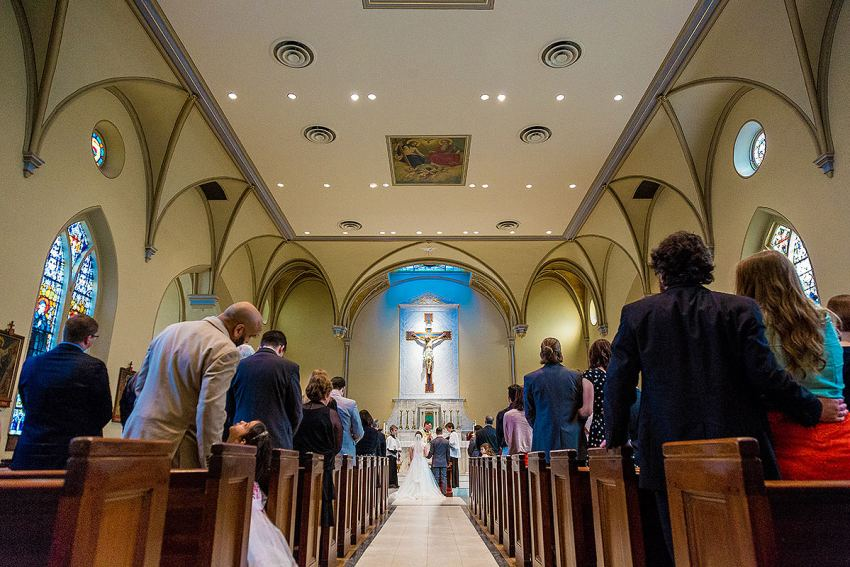 St Mary Catholic Church wedding by Washington DC Wedding Photographer Adam Mason