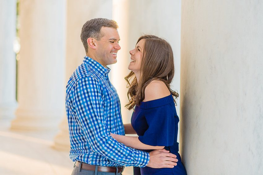 jefferson memorial engagement photo by Washington DC Wedding Photographer Adam Mason
