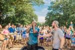 national community church baptism at Meridian Hill Park by Washington DC Wedding Photographer Adam Mason