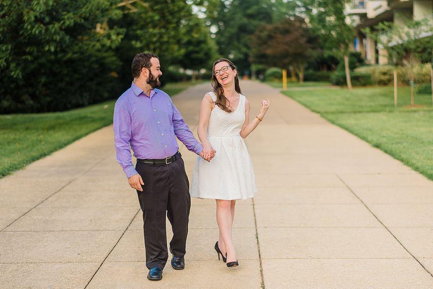 Southwest Waterfront Engagement photos in Washington DC by Washington DC Wedding Photographer Adam Mason