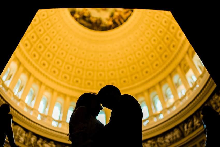 engagement photos inside the U.S. Capitol by Washington DC Wedding Photographer Adam Mason