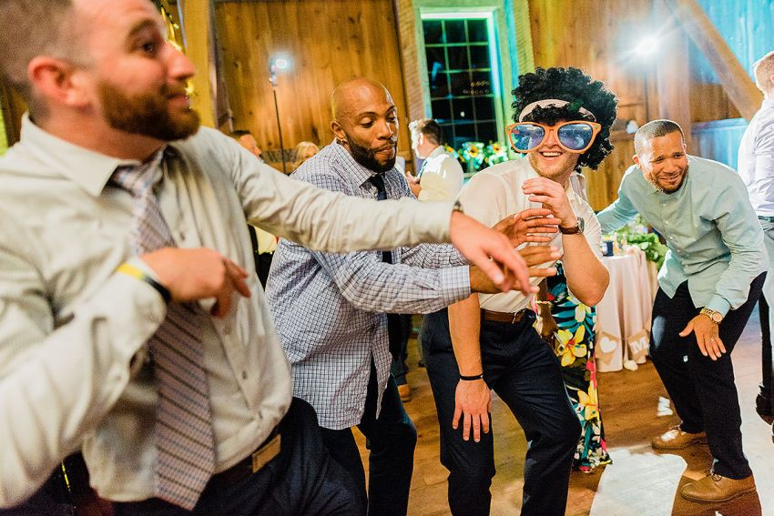 colorful wedding reception photos in York Pennsylvania by Washington DC Wedding Photographer Adam Mason