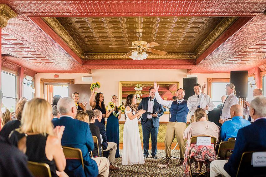riverboat wedding on the cherry blossom riverboat in Alexandria Virginia by Washington DC Wedding Photographer Adam Mason