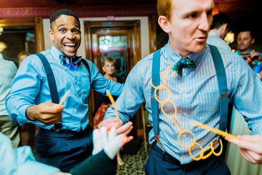 wedding reception on cherry blossom riverboat by Washington DC Wedding Photographer Adam Mason
