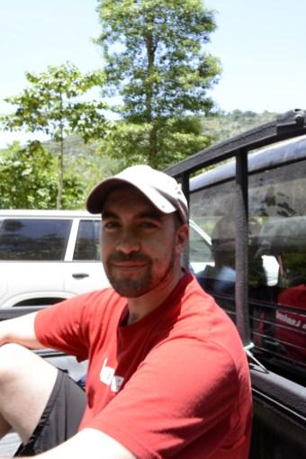 Tim in the truck