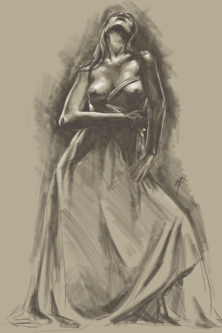 Digital Figure Painting Study