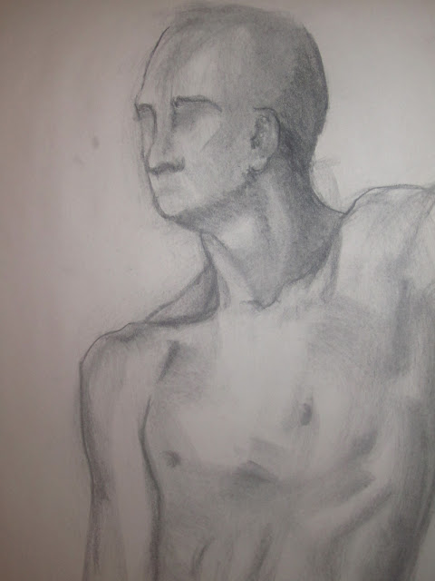 Quick Figure Study in Charcoal