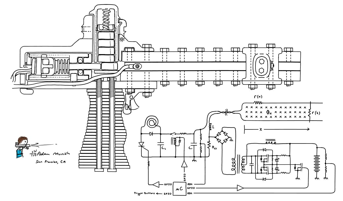 Railgun Circuit Diagram | Unixpaint on