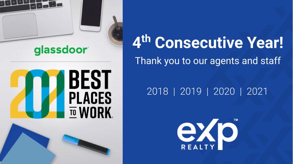 eXp Glassdoor Best Place to Work
