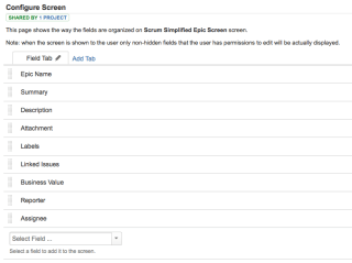 How your Scrum Simplified Epic Screen should look