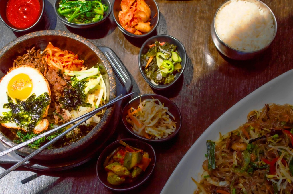 Bibimbap & Banchan (Korean Side Dishes)