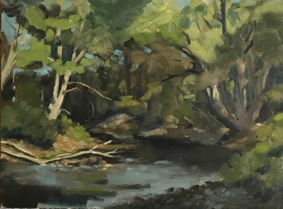 "untitled study. Oil on board. 12""x9"" 2016"