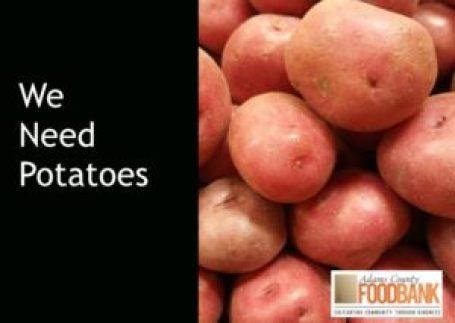 Adams County Food Bank Donate Potatoes