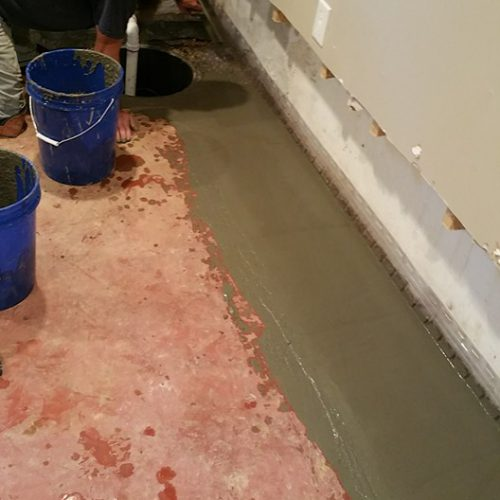 install a foundation drain tile system