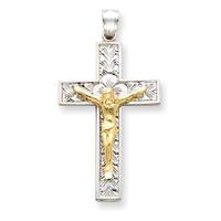 2 tone crucifix D347