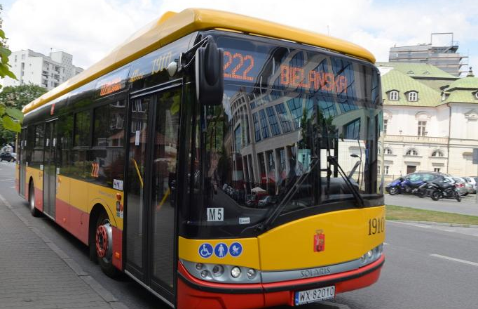 Electric buses in Warsaw