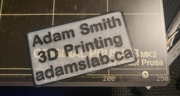 3D Printed Business Card