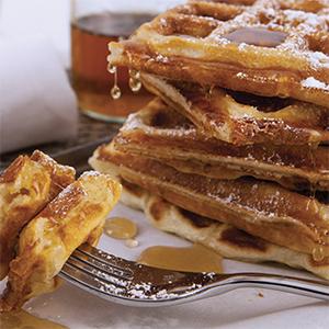 Cheddar & Apple Waffles