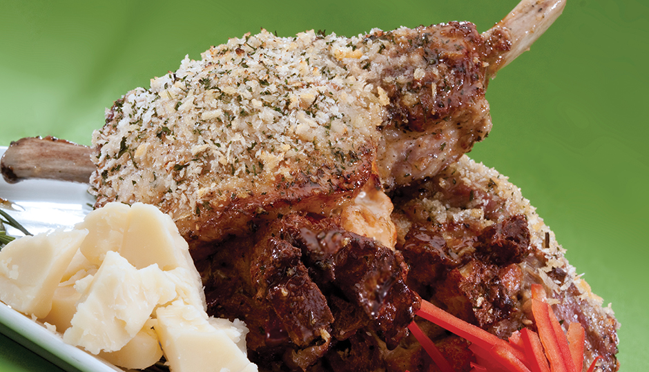 Crispy Pork Chops Stuffed with Cheddar and Roasted Red Pepper