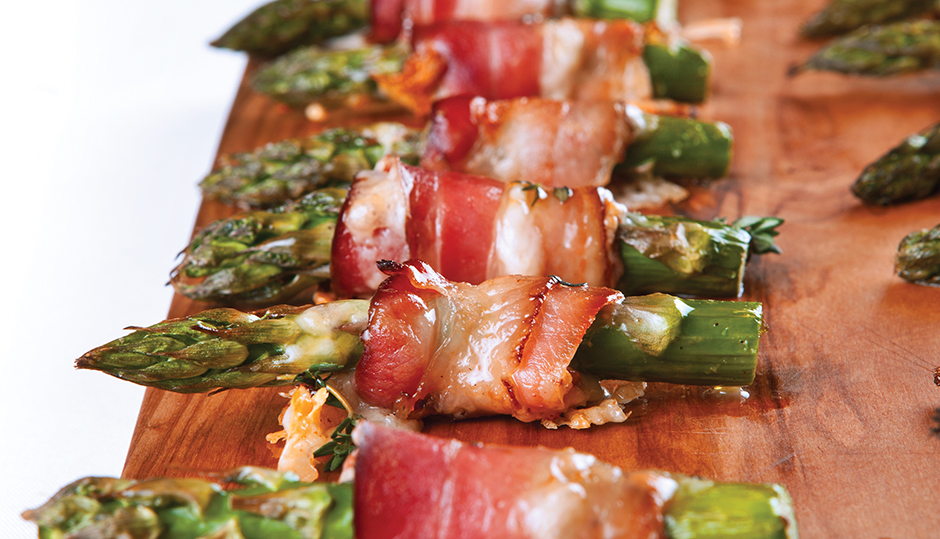 Bacon and Adams Reserve Cheddar Wrapped Asparagus
