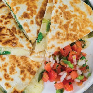 Cheddar Quesadilla with Chiles