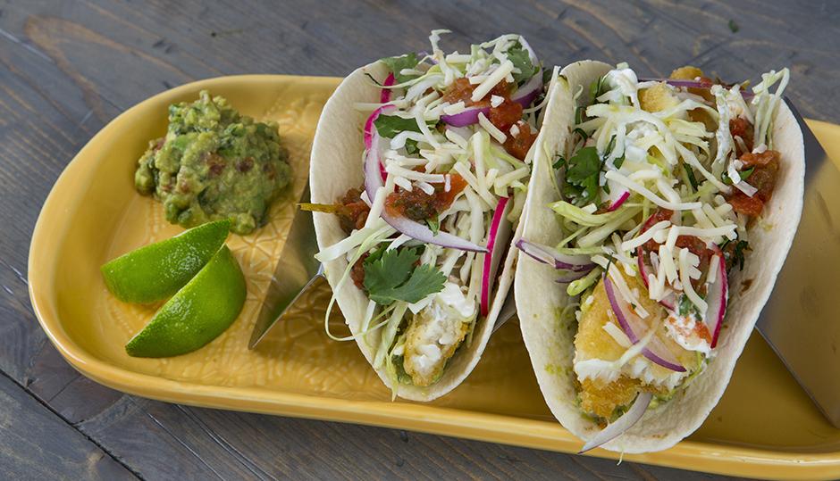 Adams Reserve Cheddar & Fish Tacos