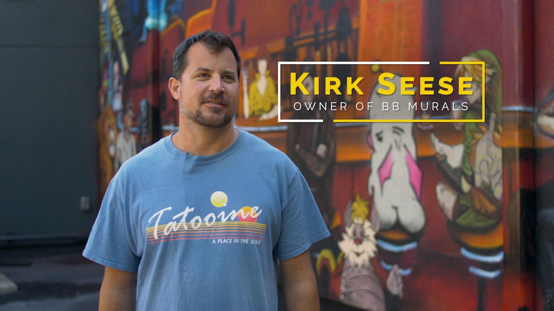 Kirk Seese owner of BB Murals