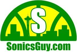 Sonics Guy logo, reversed colors.