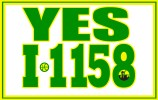 Initiative 1158 promotional image with yellow-heavy double border.