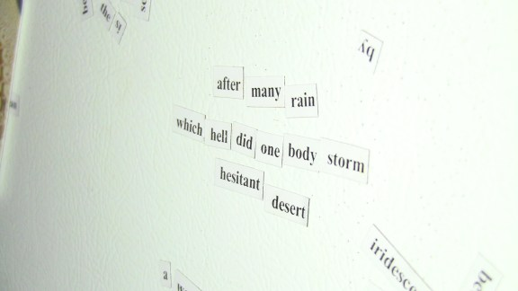 MAGNET POETRY: after many rain / which hell did one body storm / hesitant desert