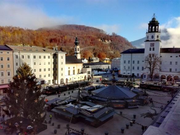 residenzplatz rezidencne namestie salzburg rakusko