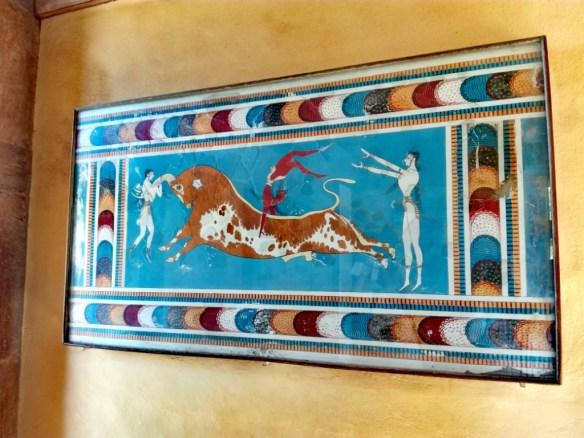 grecko kreta knossos galeria mladik preskakujuci byka
