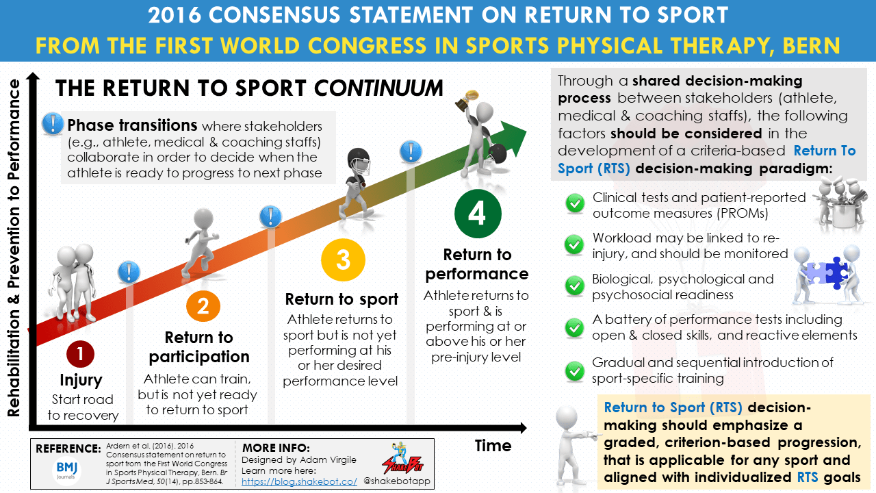 Consensus statement on return to sport from the First World Congress in Sports Physical Therapy
