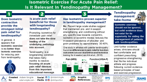 Isometric exercise for acute pain relief: is it relevant in tendinopathy management?