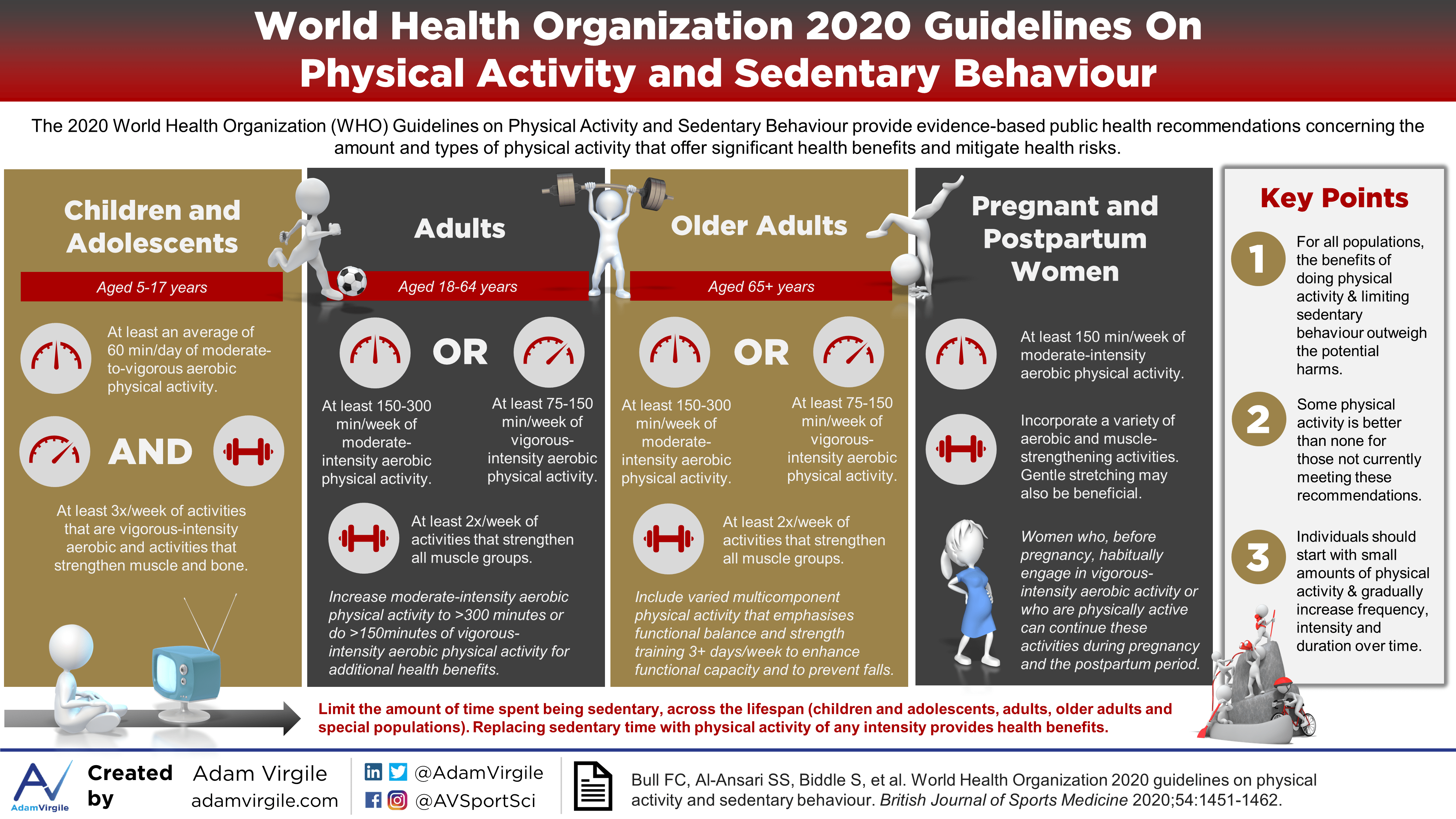 World Health Organization 2020 Guidelines on Physical Activity and Sedentary Behaviour