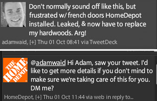 Tweets from Home Depot