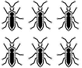 Bugs Sticker Small