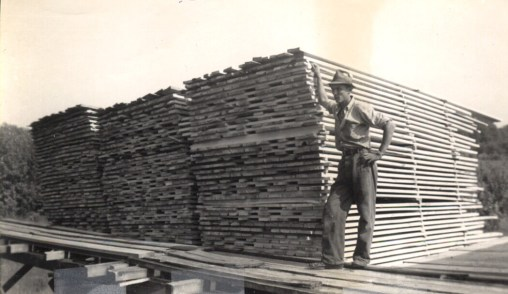 Bob at the sawmill in the summer of 1952
