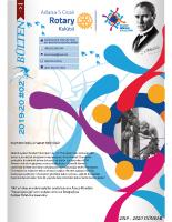 Adana 5 Ocak Rotary Kulübü 2019-20 Bülten – 02