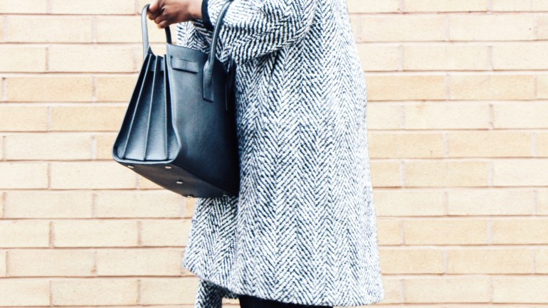 Wool Coat & Patchwork Boots