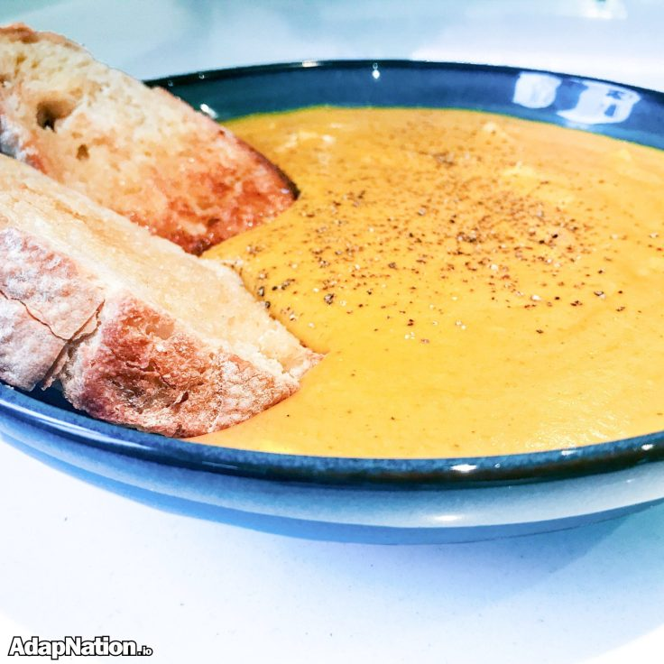 Spicy Sweet Potato & Chicken Soup