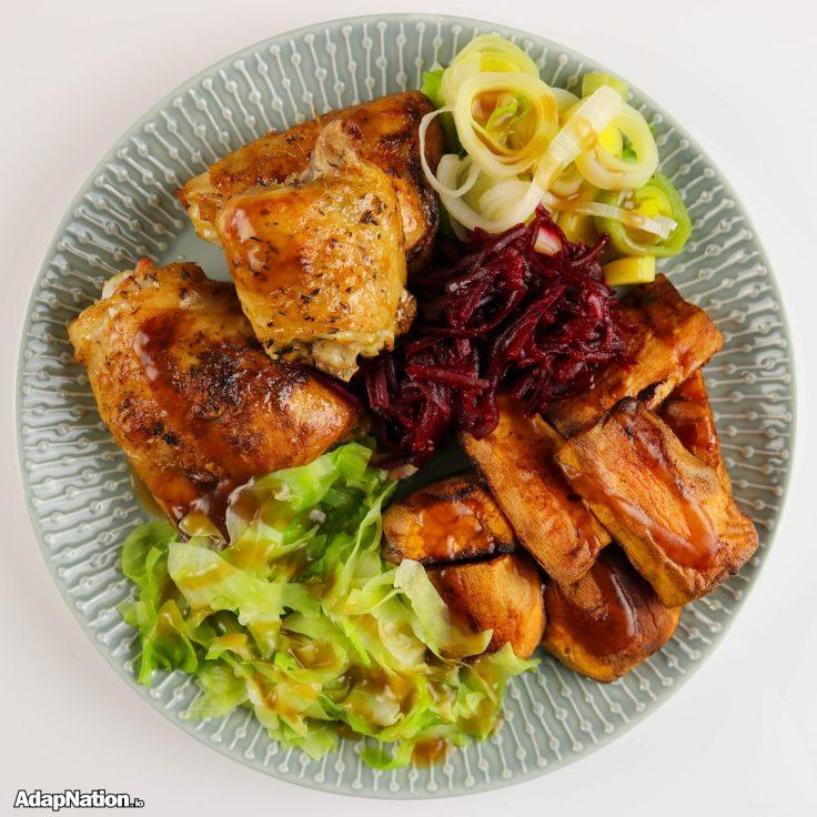 Chicken Thigh & Sweet Potato Roast Dinner