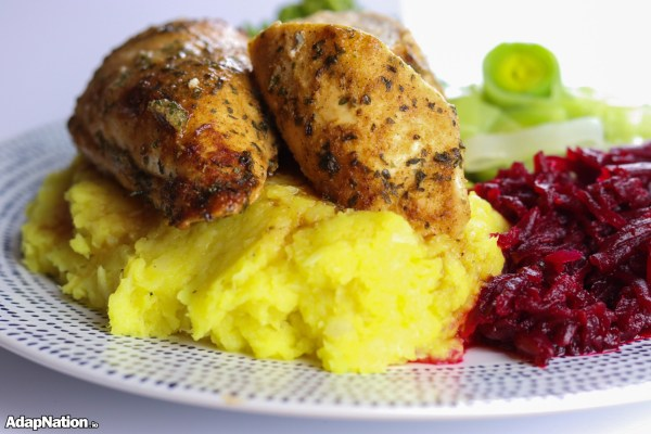 Roast Chicken & Parsnip Mash, with Beetroot & Prebiotic Veggies
