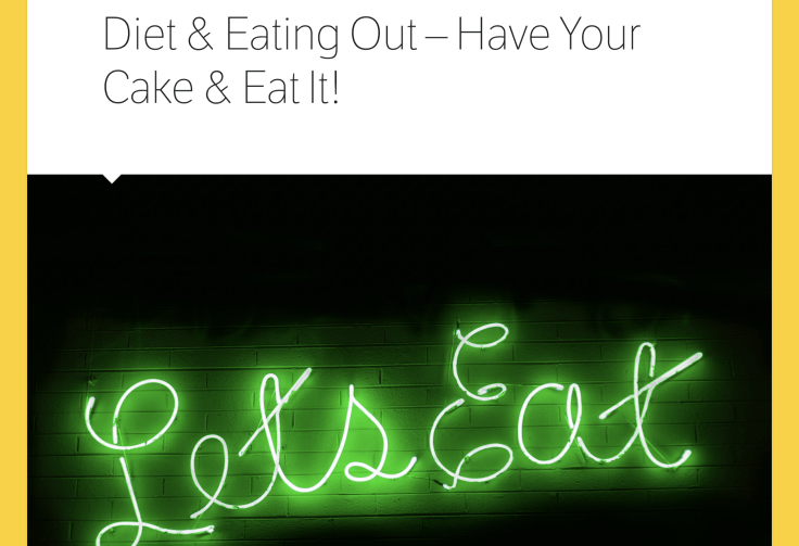 Diet & Eating Out Article