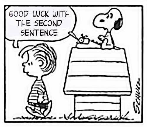 Snoopy Writers Block