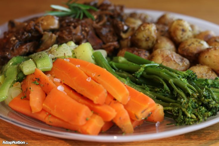 Slow Roast Lamb, New Potatoes & Tender Veg