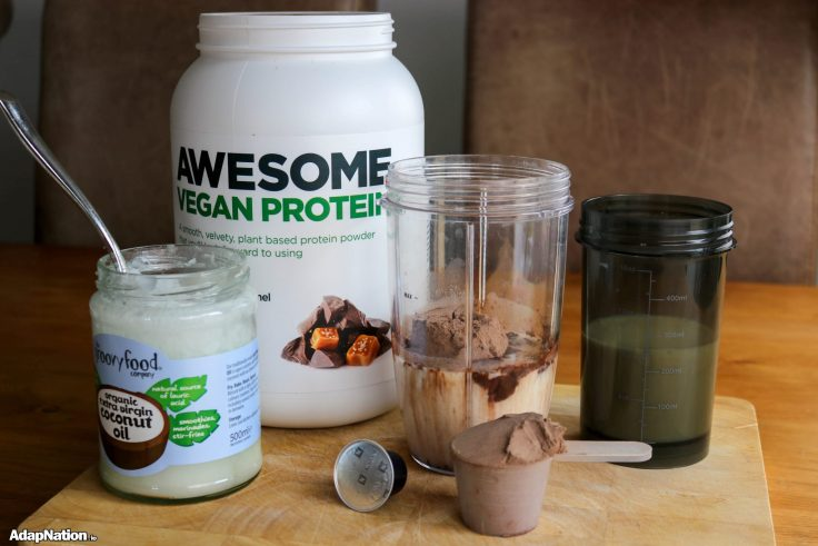 "Steve's ""Awesome"" Morning Fuel - When Vegan Protein, Healthy Oils & Espresso Collide! - - unblended"