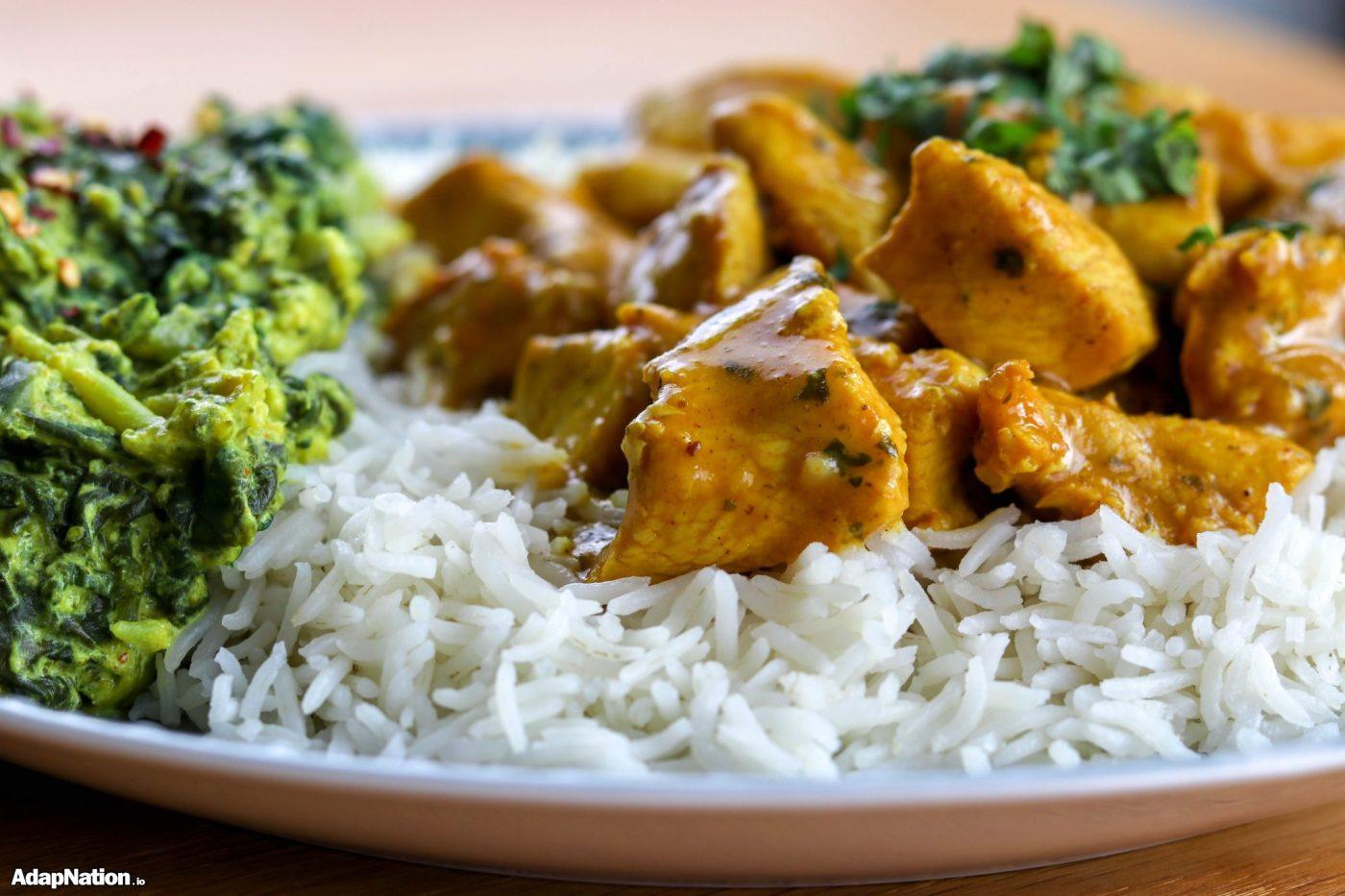 Butter Chicken & Spicy Broccoli Saag p1