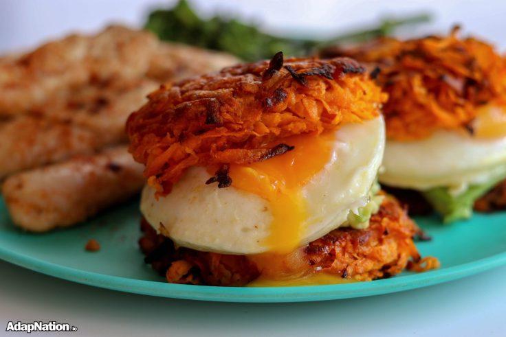 Sweet Potato Egg & Avocado Burger